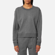 T by Alexander Wang Women's Dry French Terry Long Sleeve Tie Back Sweatshirt - Heather Grey - L - Grey