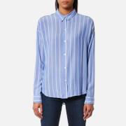 Rails Women's Josephine Stripe Shirt - Bluebonnet/White Stripe - L - Blue