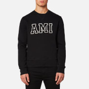 AMI Men's Crew Neck Sweatshirt - Black
