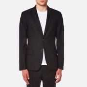 AMI Men's Two Button Lined Suit Jacket - Black - S/EU 46 - Black