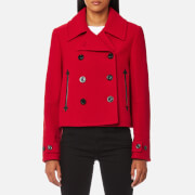 McQ Alexander McQueen Women's Short Peacoat - Amp Red - EU 40/UK 8 - Red