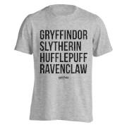 T-Shirt Homme Maisons de Poudlard Harry Potter - Gris Clair Chiné