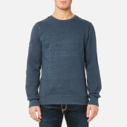 Superdry Men's Premium Goods Crew Sweatshirt - Twilight Blue Grit