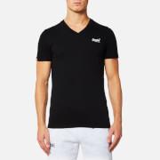 Superdry Men's Orange Label Vintage Embroidered V Neck T-Shirt - Black