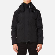 Superdry Men's Pop Zip Hood Arctic Windcheater Jacket - Black/Dark Grey Marl