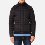 Superdry Men's Box Quilt Fuji Hooded Jacket - Black