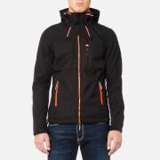 Superdry Men's Hooded Windtrekker Jacket - Black/Emergency Orange