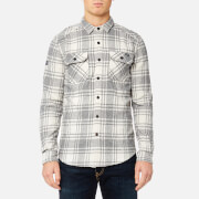 Superdry Men's Milled Flannel Long Sleeve Shirt - Lavenham Grit Check