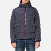 Superdry Men's Sports Puffer Jacket - Indigo Marl/Deep Red