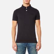 Superdry Men's Vintage Destroyed Short Sleeve Pique Polo Shirt - Vintage Black