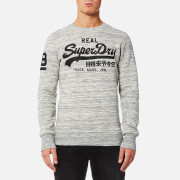Superdry Men's Vintage Logo Crew Sweatshirt - Side Walk Grey Marl Space Dye