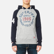 Superdry Men's Trackster Baseball Hoody - Track Grey Grit/Blue Black Grit