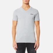 Superdry Men's Orange Label Vintage Embroidered V Neck T-Shirt - Grey Marl