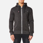 Superdry Men's Orange Label Zip Hoody - Low Light Black Grit
