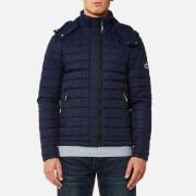 Superdry Men's Box Quilt Fuji Hooded Jacket - Sport Code Navy