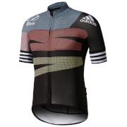 adidas Men's Adistar Jersey - Black/Red/Yellow