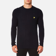 Lyle & Scott Men's Cable Jumper - Navy