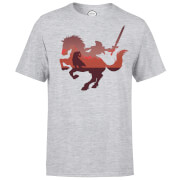 Nintendo Zelda Horse Silhouette Men's Light Grey T-Shirt