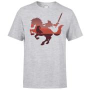 Nintendo Zelda Horse Silhouet Heren T-shirt - Grijs