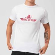 Image of T-Shirt Nintendo Mario Kart Here We Go Mario White - Uomo - XS - Bianco