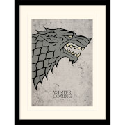 Game of Thrones Stark Mounted 30 x 40cm Print