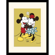 Disney Mickey and Minnie Mouse True Love Mounted 30 x 40cm Print