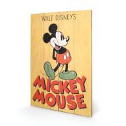 Disney Mickey Mouse Mickey 40 x 39cm Wood Print