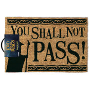The Lord of the Rings You Shall Not Pass Doormat