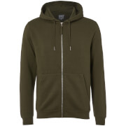 D-Struct Men's Zip Through Hoody - Khaki