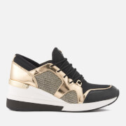 MICHAEL MICHAEL KORS Women's Scout Runner Trainers - Black/Pale Gold