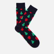 Happy Socks Men's Fruit Pattern Socks - Navy - EU 41-46
