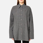 Helmut Lang Women's Check Shirt Gingham - Black/Grey Melange - M - Black