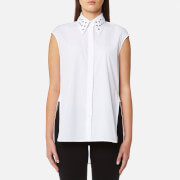 Helmut Lang Women's Eyelet Sleeveless Shirt - White - L - White