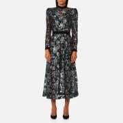 Perseverance London Women's Floral Multi Sequin Midi Dress - Silver - UK 12 - Silver