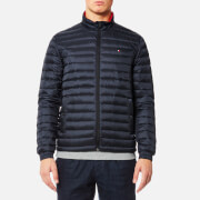 Tommy Hilfiger Men's Lightweight Packable Down Bomber Jacket - Sky Captain
