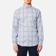 Tommy Hilfiger Men's Reza Check Long Sleeve Shirt - Cloud HTR/Estate Blue