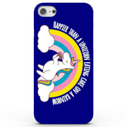 Happier Than a Unicorn Eating Cake On a Rainbow Phone Case for iPhone & Android - 4 Colours