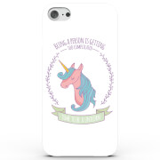 Coque iPhone & Android Being a Person is Complicated, Be a Unicorn - 4 Couleurs