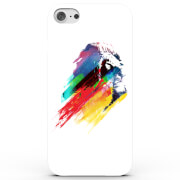 Coque iPhone & Android Lion Coloré - Blanc