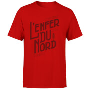 T-Shirt Homme L'enfer Du Nord - Rouge