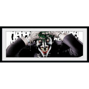 DC Comics Laughing Joker - 30 x 12 Inches Framed Photograph
