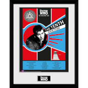 Doctor Who Spacetime Tour 10th Doctor - 16 x 12 Inches Framed Photograph