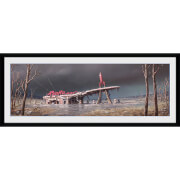 Fallout 4 Red Rocket - 30 x 12 Inches Framed Photograph