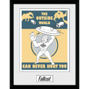 Fallout Outside - 16 x 12 Inches Framed Photograph