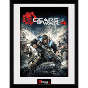 Gears of War 4 Game Cover - 16 x 12 Inches Framed Photograph