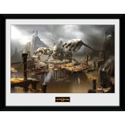 God of War Concept Art Canyon - 16 x 12 Inches Framed Photograph