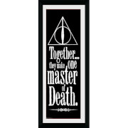Harry Potter Deathly Hallows - 30 x 12 Inches Framed Photograph