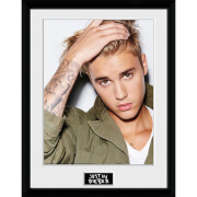 Justin Bieber Green Jacket - 16 x 12 Inches Framed Photograph