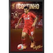 Liverpool Coutinho 15/16 - 61 x 91.5cm Framed Maxi Poster