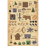 Minecraft Pictograph - 61 x 91.5cm Maxi Poster